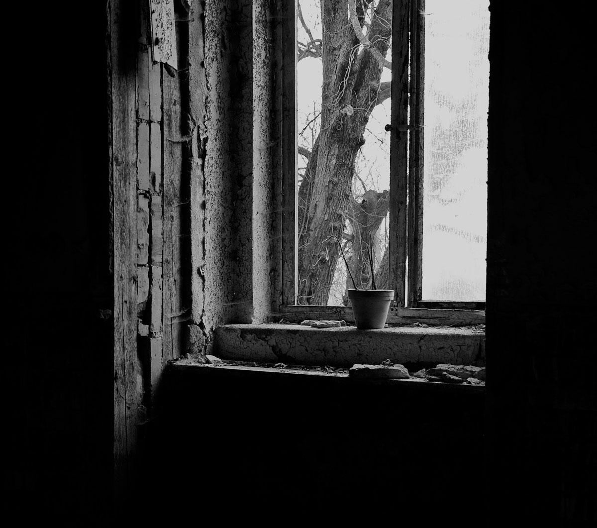 .. .der einsame, übrig gebliebene Blumentopf..