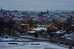 Der Erfurter Weihnachtsmarkt bei -14 Grad