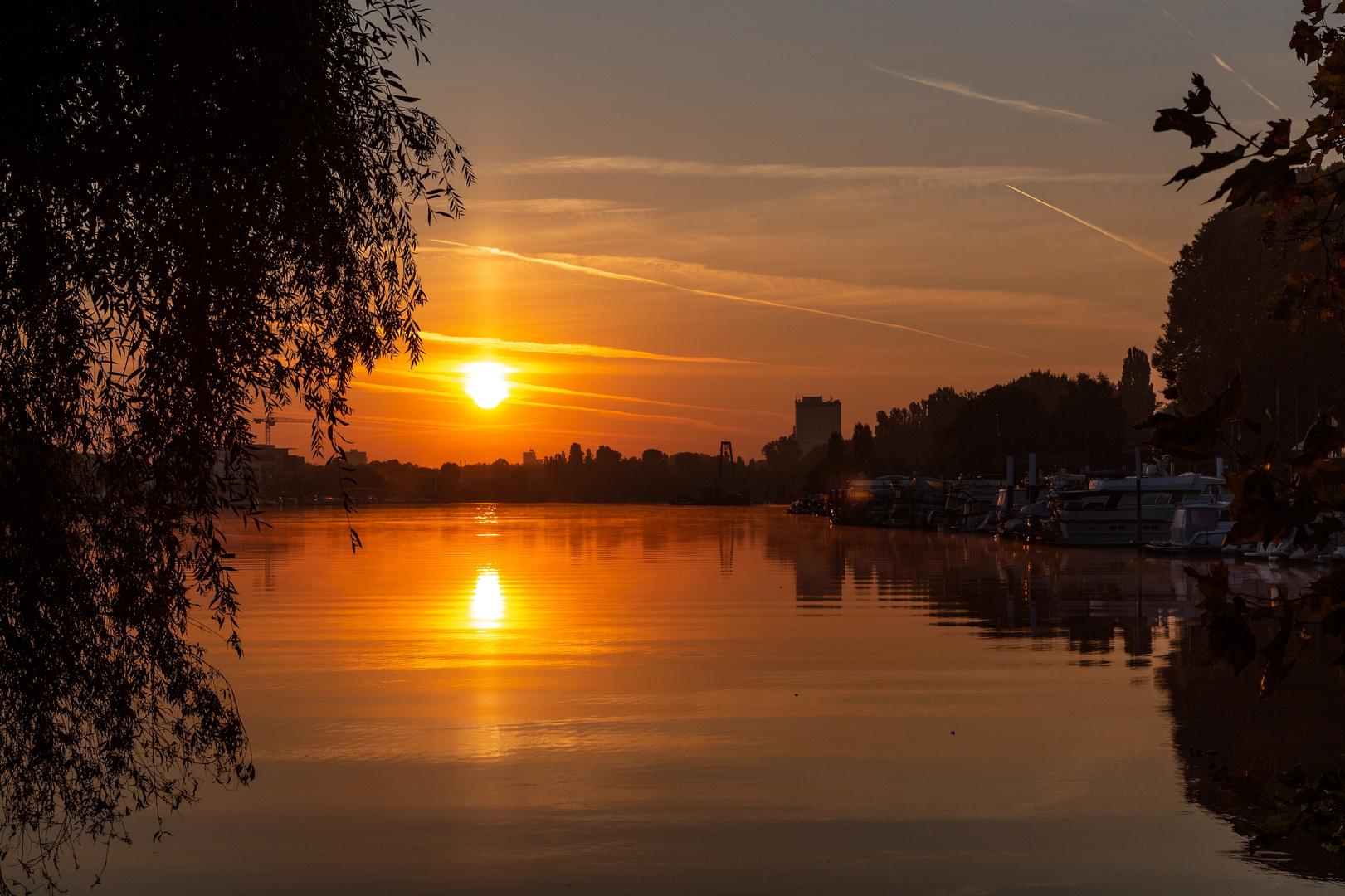 Der erste Herbst-Sonnenaufgang....