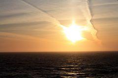 der erste Sonnenuntergang auf See