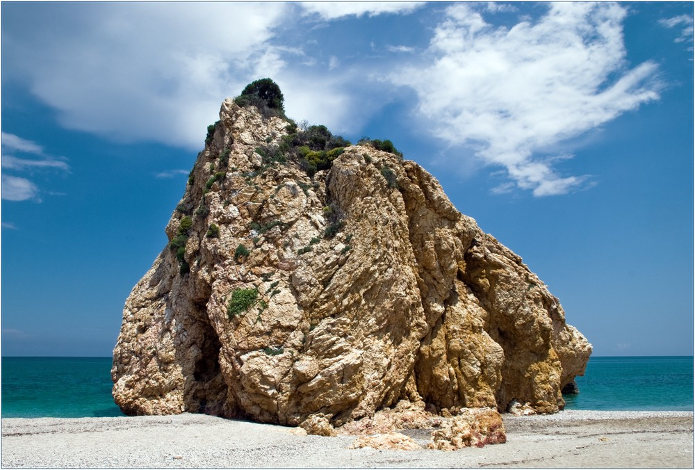 Der Felsen ...