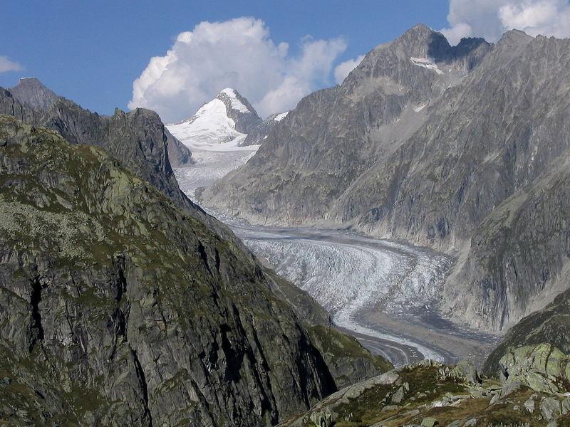 Der Fiescher Gletscher