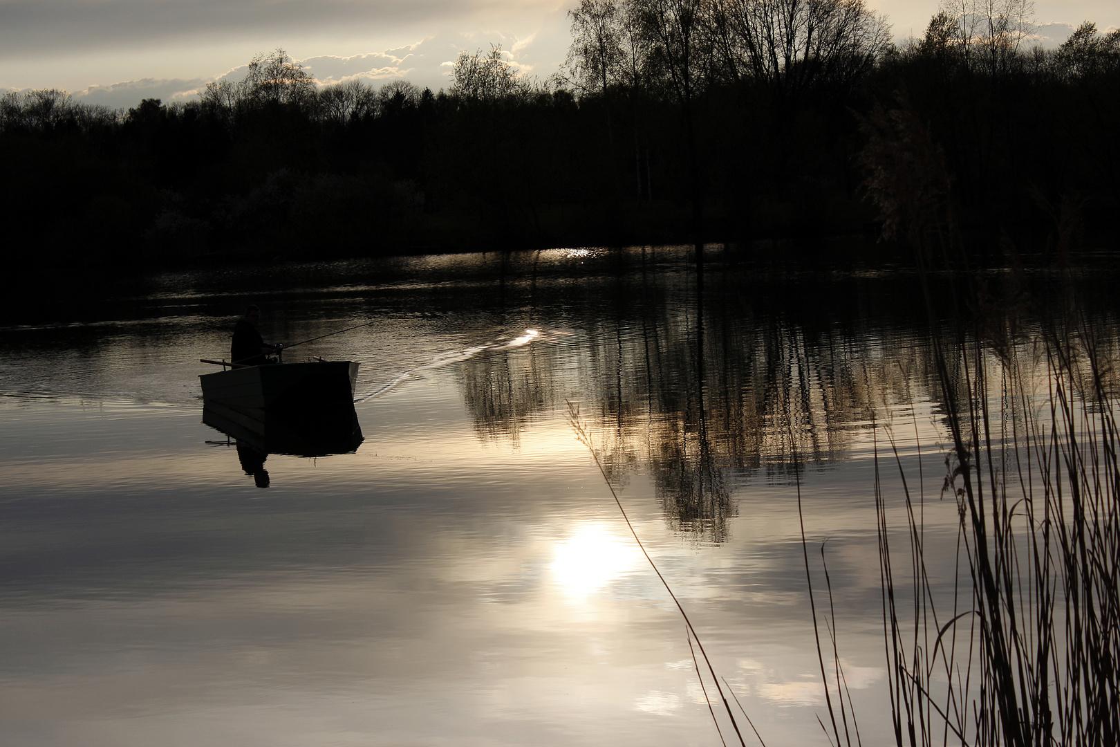 Der Fischer im Boot