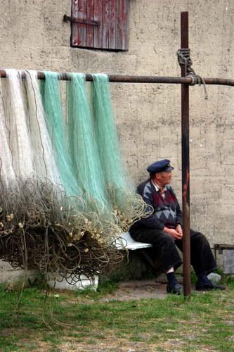 Der Fischer u. sein Netz