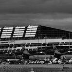 der Flughafen in Echterdingen