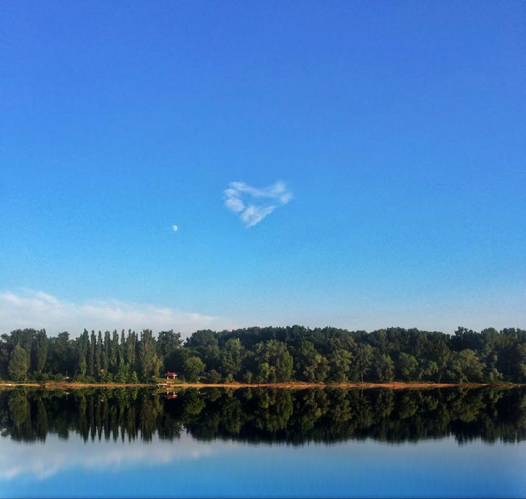 Der Fluss, der Mond und ein WolkenHerz