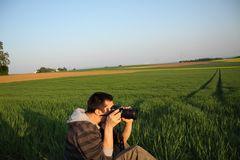 Der Fotograf bei der Arbeit