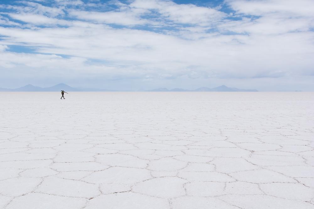 Der Fotograf im Salzsee