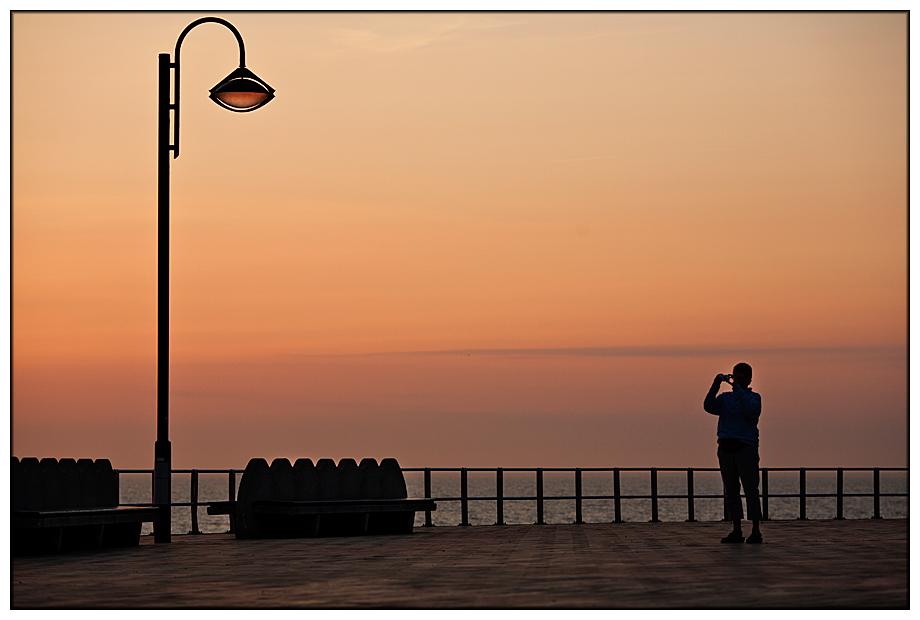 Der Fotograf und die Laterne