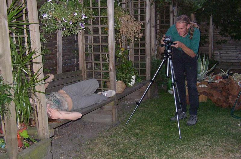 Der Fotograf und sein Model.