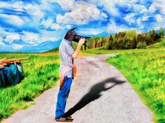 Der Fotograf(Gemälde version)