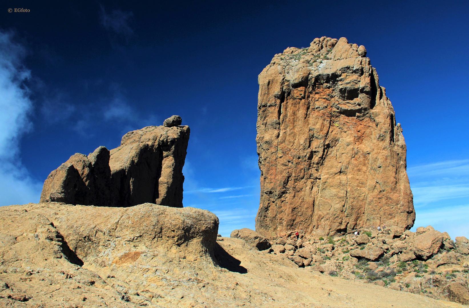 »Der Froschfelsen und der Wolkenfels« (Roque de la Rana und Roque Nublo)