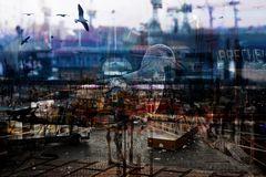 Der frühe Vogel auf dem Fischmarkt