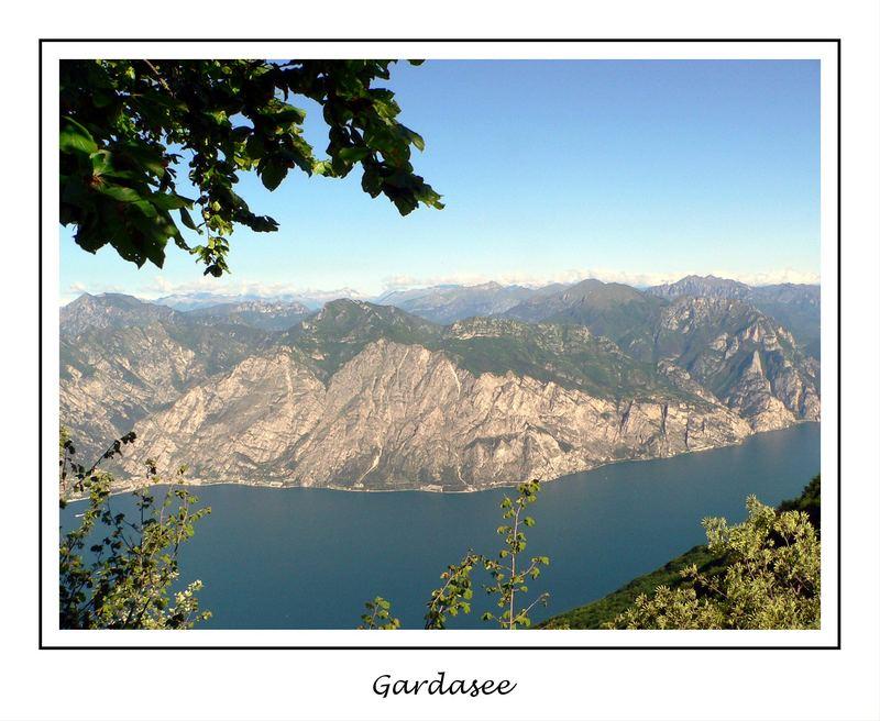 Der Gardasee von hoch oben