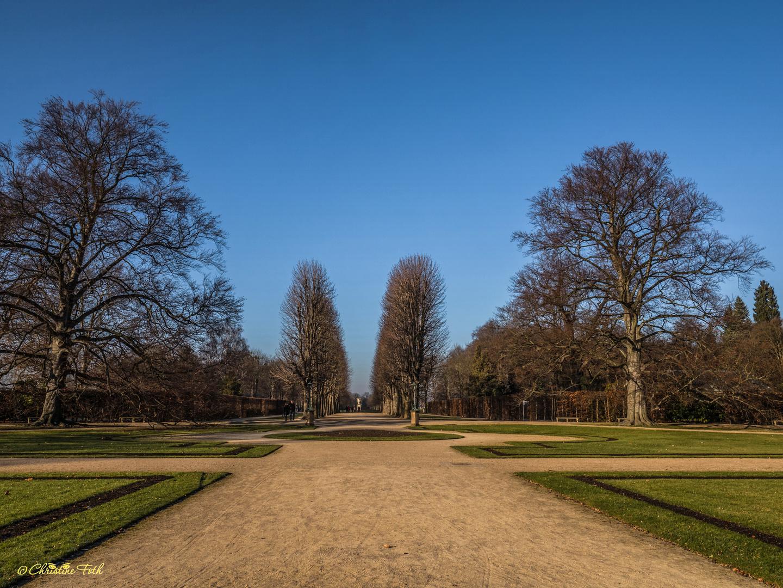 Der Garten von Schloss Pillnitz