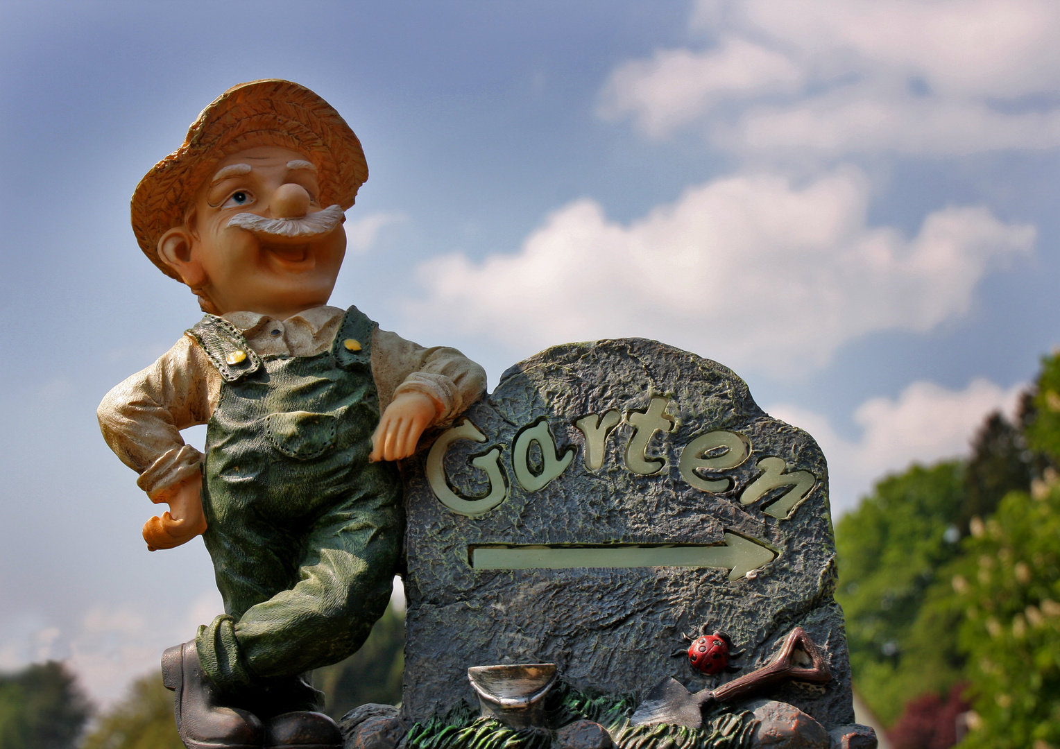 Der Garten Wegweiser Foto Bild Quatsch Fun Und Ratselecke