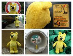 Der gelbe Bär auf der Baustelle