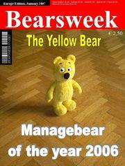 Der gelbe Bär auf der Titelseite