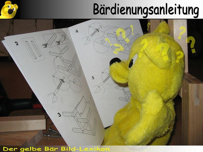 Der gelbe Bär Bild-Lexikon - Bärdienungsanleitung