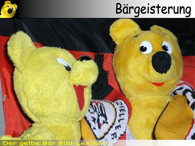 Der gelbe Bär Bild-Lexikon - Bärgeisterung