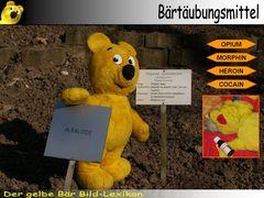 Der gelbe Bär Bild-Lexikon - Bärtäubungsmittel
