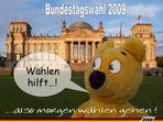 Der gelbe Bär empfiehlt - Wählen gehen nicht vergessen !!!