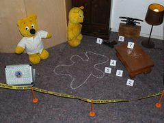 Der gelbe Bär ermittelt....Was ist hier passiert ?