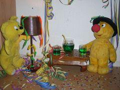 Der gelbe Bär feiert Karneval
