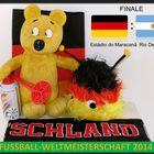 Der gelbe Bär fiebert zum Finale