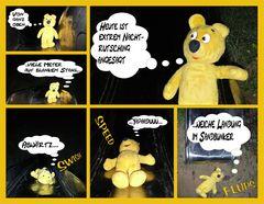 Der gelbe Bär heimlich nachts auf dem Spielplatz (Comic)