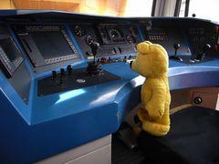 Der gelbe Bär hilft im Güterzugverkehr