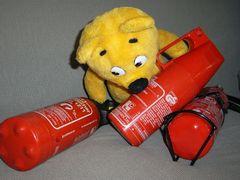 Der gelbe Bär hilft...Feuerlöscher prüfen