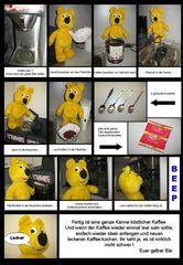 Der gelbe Bär hilft...Kaffeekochen im Büro