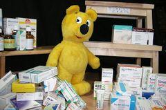 Der gelbe Bär hilft...Medikamente sortieren
