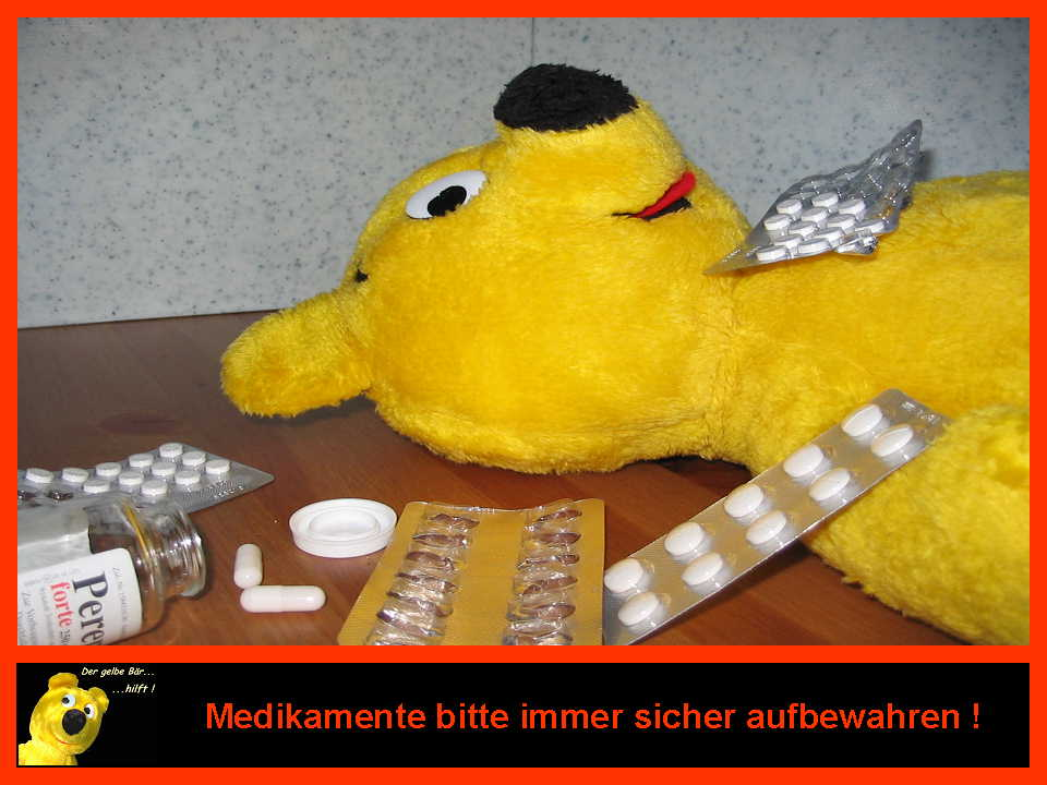 Der gelbe Bär hilft...Umgang mit Medikamenten