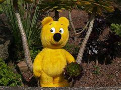 Der gelbe Bär im botanischen Garten
