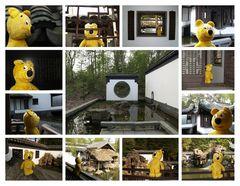 Der gelbe Bär im chinesichen Garten Qian Yuan