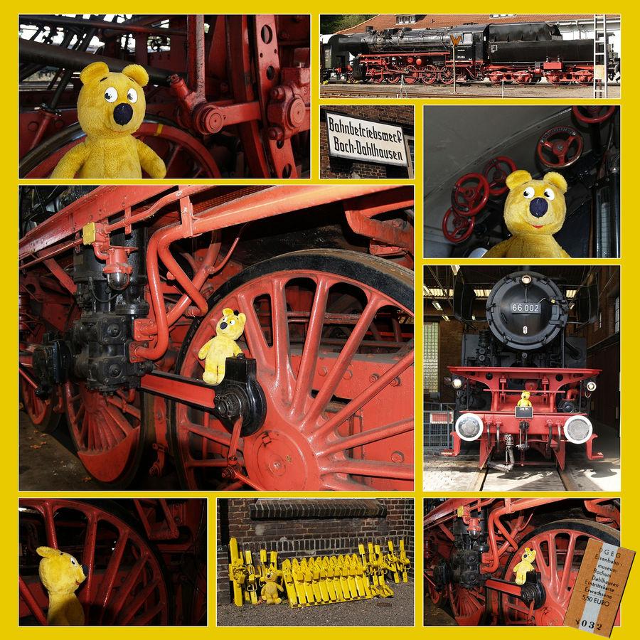 Der gelbe Bär im Eisenbahnmuseum Bochum Dahlhausen