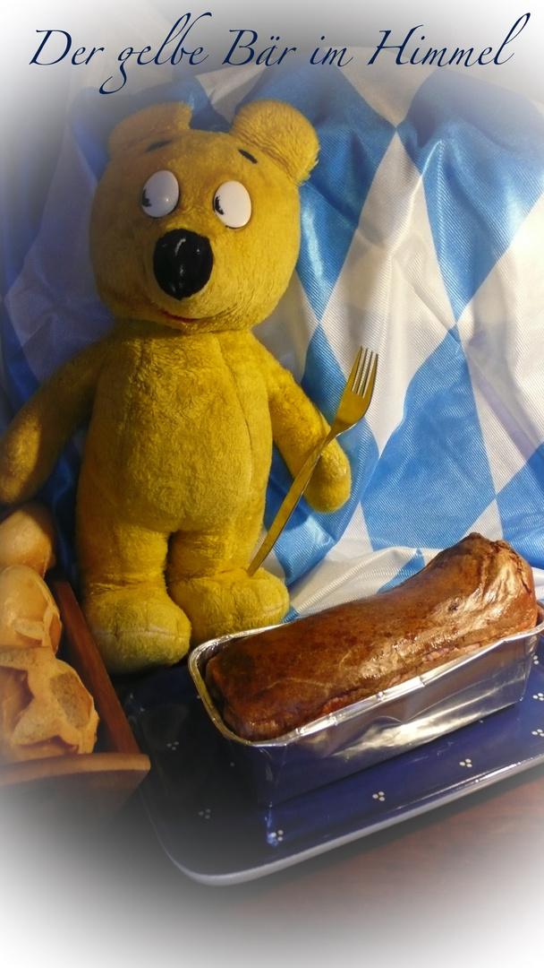 Der gelbe Bär im Himmel - Leberkaassemmeln