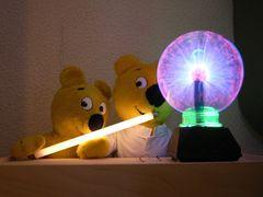 Der gelbe Bär im Plasmalabor