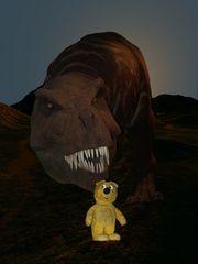 Der gelbe Bär in Gefahr