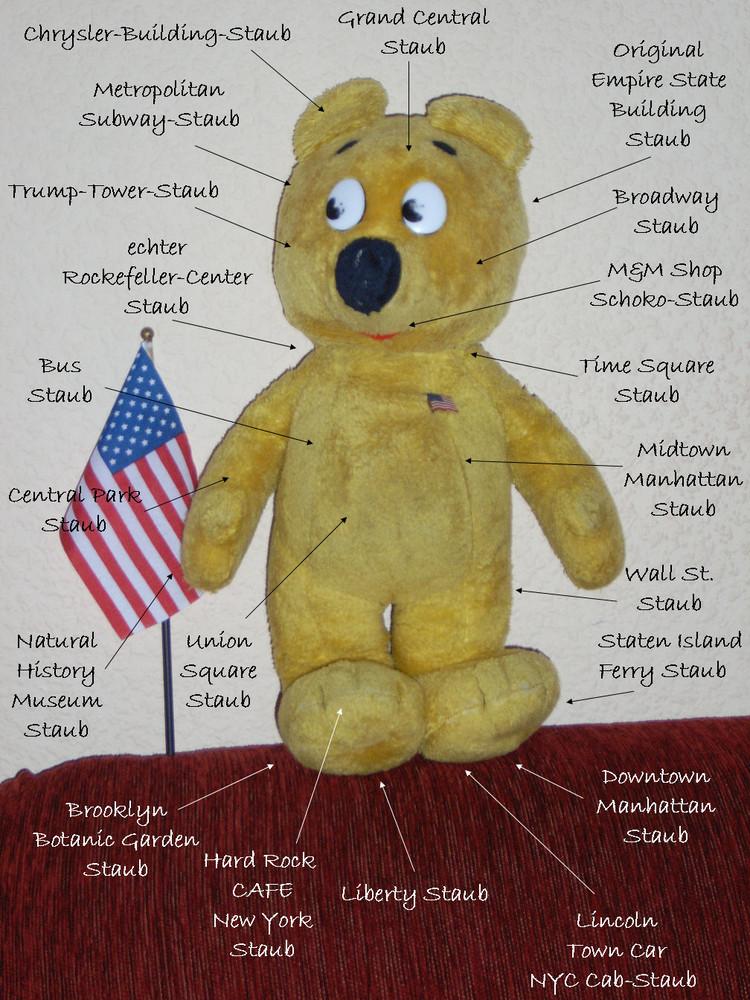 Der gelbe Bär ist nicht wirklich schmutzig