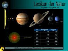 Der gelbe Bär Naturlexikon - Planeten - Größenunterschiede