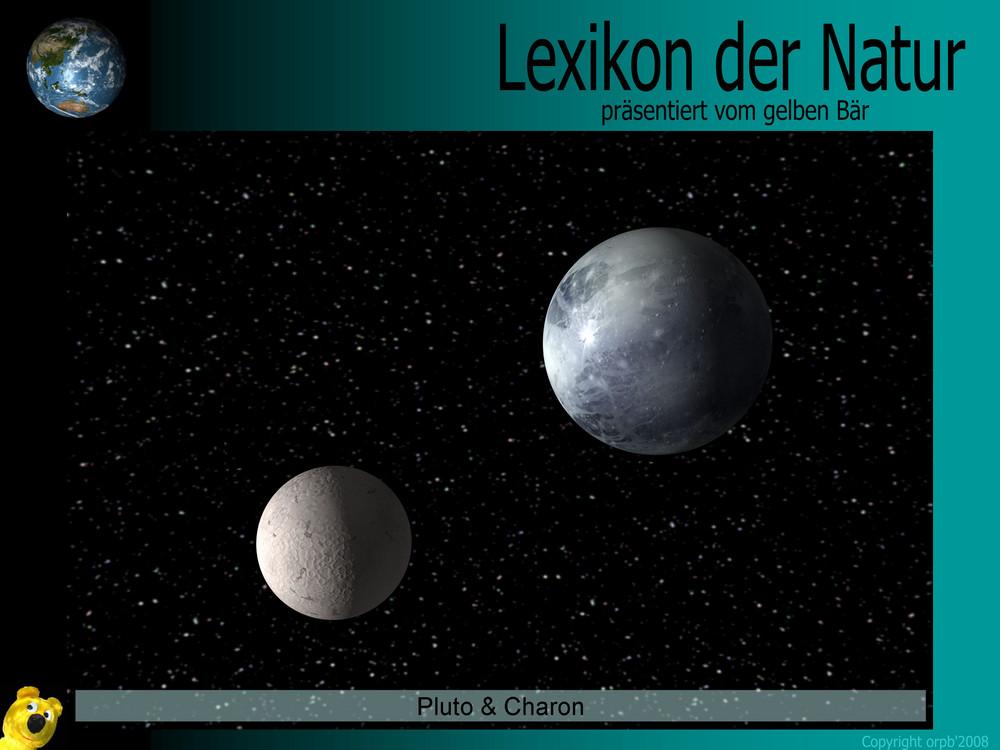 Der gelbe Bär Naturlexikon - Planeten - Pluto & Charon