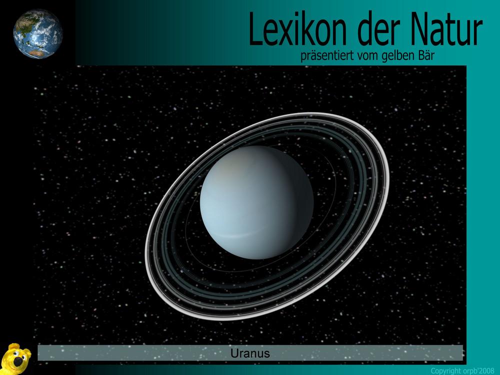 Der gelbe Bär Naturlexikon - Planeten - Uranus