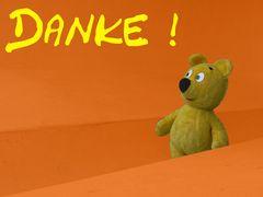 Der gelbe Bär sagt Danke !