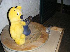 Der gelbe Bär und die Antike Waschmaschine