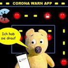 Der gelbe Bär und die Corona Warn App