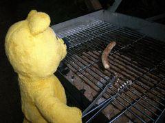 Der gelbe Bär und die erste Grillwurst des Jahres