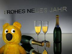 Der gelbe Bär wünscht ein >>Frohes Neues Jahr<<